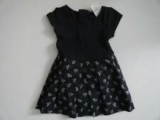 NWT Baby Gap 12-18 18-24 Ribbed Floral Dress Navy Short Sleeve New