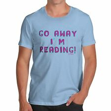 Twisted Envy Men's Go Away I'm Reading 100% Organic Cotton T-Shirt