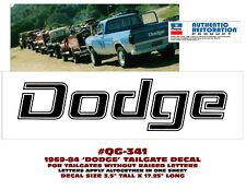 """QG-341 1977-84 DODGE TRUCK - TAILGATE NAME DECAL - 17"""" LONG"""