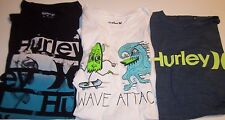 NEW HURLEY short sleeve t shirt boys blue white black youth  large  XL
