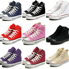 Womens Canvas Lace Up Classic Girls College Sneaker Espadrilles Shoes Retro Cute
