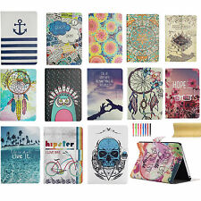 For iPad mini 1 2 3 Cute Painted Slim Leather Flip Smart Case Stand Cover Book