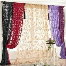 Butterfly Pattern Tassel String Door Curtain Window Modern Curtain Divider Black