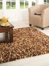 Supersoft Truffle Brown Mix Thick Shaggy Rug in various sizes