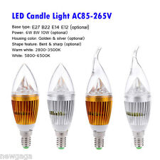 E12 10W High Power LED Chandelier Candle Light Bulb Spotlight Lamp AC 85-265V