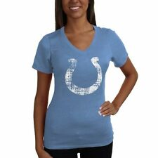 Indianapolis Colts Women's V-Neck Tri-Blend Heathered T-Shirt - Royal Blue - NFL