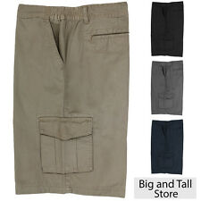 Big & Tall Men's Expandable Waist Cargo Shorts Size 46 - 72 by Full Blue