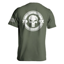 Punisher v3 Back Printed Chris Kyle Sniper Army Military Tee Cotton S M L XL 2XL
