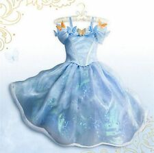 2015 Blue Sandy Girl Princess Cinderella Cosplay Costume Kids Party Fancy Dress