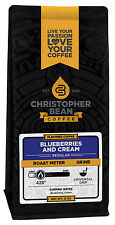 Christopher Bean Coffee BLUEBERRIES AND CREAM Flavored Coffee 1-12-Oz Bag