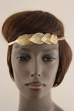 New Women Metal Head Band Chain Big Leaves Hair Lady Fashion Jewelry Gold Silver