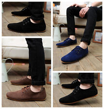 New Fashion British Mens Casual Suede Soft Lace Up Loafers Sneaker Driving Shoes