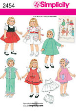"Simplicity pattern - 2454 Vintage 16"" & 18"" Doll Clothes"