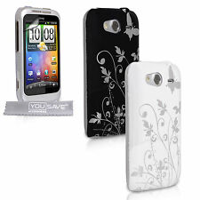 New HTC Wildfire S Floral IMD Case Cover Skins Including Free Screen Protection