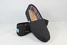 New AUTHENTIC TOMS Women's Classics BLACK On BLACK Canvas Shoes / Original Box