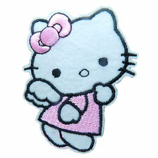 Wholesale-10/50/100pc Embroidered Iron/Sew on Patches Hello Kitty Applique Badge