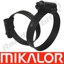 BLACK Mikalor W3 Stainless Steel Clamp Worm Drive Hose Clip SS Silicone Pipe