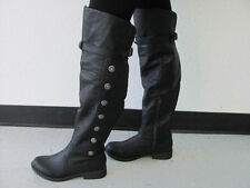 MEN'S PIRATE RENAISSANCE MEDIEVAL COSTUME STEAMPUNK THIGH BOOTS BLACK OR BROWN