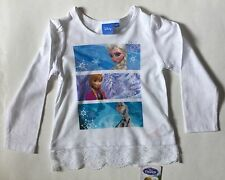 Girls Disney Frozen Long Sleeved T Shirt with 3 picture scenes