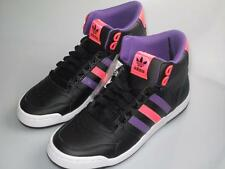 Adidas black purple miduru court hi top mid synthetic basketball trainer boots
