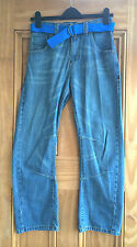 Next Boys New Blue Denim Belted Jeans Age 3 - 11 Years Bnwot