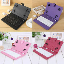 "USB Keyboard Leather Case Cover With Stylus for 7""inch Windows Android Tablet PC"
