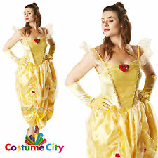 Adults Womens Official Disney Beauty and the Beast Belle Fancy Dress Costume