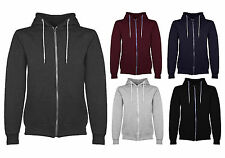 New Mens Plain Hoodie Fleece Zip Up Hoody Jacket Sweatshirt Hooded Zipper Top