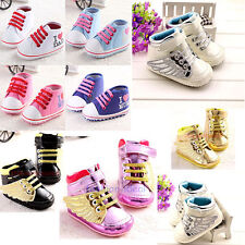 Non-slip Newborn Baby Kid Boy Girl Shoe Sneaker Toddler Infant 0-18 Months #BS21