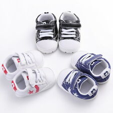 Baby Infant Boy Girl Soft Anti-Slip Sport Unisex Shoes Sneaker Pre-walkers #BU18