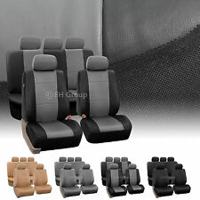PU Leather Car Seat Covers Airbag / Split Ready
