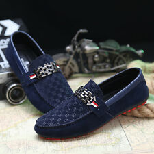2015 New Leather Slip On Mens Driving Moccasin Loafer Casual Shoes UK Size6-9.5