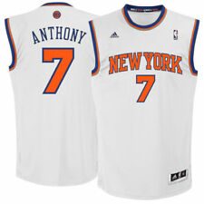 Youth New York Knicks Carmelo Anthony adidas White Swingman Home Jersey - NBA