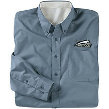 Arctic Cat Men's Steel Gray Oxford Button-Up Pocket Long-Sleeve Shirt - 5229-25_
