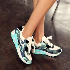Punk Camo Womens Air Max Sneakers Casual Lace Up Athletic Sports Trainers Shoes