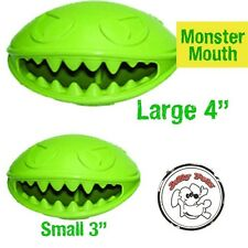 Monster Mouth Treat Dispensing 100% Natural Rubber Chew Toy with TEETH for Dog o