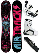 Snowboard Set AIRTRACKS Pink Thunder+Bindings+Boots+Bag+Pad /144 150 156cm / New