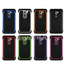 Hybrid Rugged Rubber Matte Hard Case Cover Skin For Android Phone LG G2 FM US 02