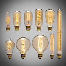 40W 60W Filament Light Bulbs Vintage Retro Industrial Style edison Lamp E27 U