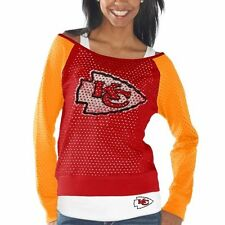 Kansas City Chiefs Womens Holey Long Sleeve T-Shirt and Tank Top – Red/Gold