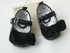 Carter's Mary Jane black patent Crib baby girl Shoe NEW size 4 ( 9 - 12 months )
