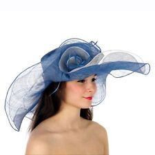 Kentucky Derby Church Wedding Sinamay Wide Brim Dress Hat N3 Red