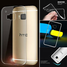 Slim Soft Transparent TPU Rubber Gel Skin Protector Case Cover for HTC ONE M9 b2