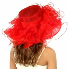 Kentucky Organza Derby Wedding Wide Brim Dress Hat N15
