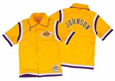Magic Johnson Los Angeles Lakers Mitchell & Ness 86-87 Authentic Shooting Shirt