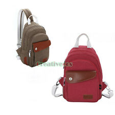 Unisex Couples Lovers Canvas Casual Messenger Shoulder Backpack Sling Chest Bag