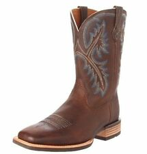 Ariat Quickdraw Oiled Rowdy Brown Square Toe Leather Men's Boots