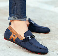 New Leather Slip On Mens Driving Moccasin Loafer Casual Shoes US Size 6.5-10