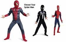 Spider-Man Deluxe Child Muscle Chest & arm Costume Brand New