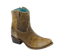 Corral Women's Chocolate & Tan Lamb Abstract Leather Boots C1064